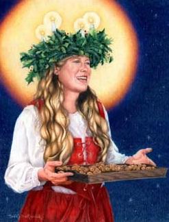 Heilige Lucia Lichterkranz