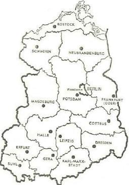 Ddr Plan Landkarte Mit Bezirke Lexikon Ddr Karte